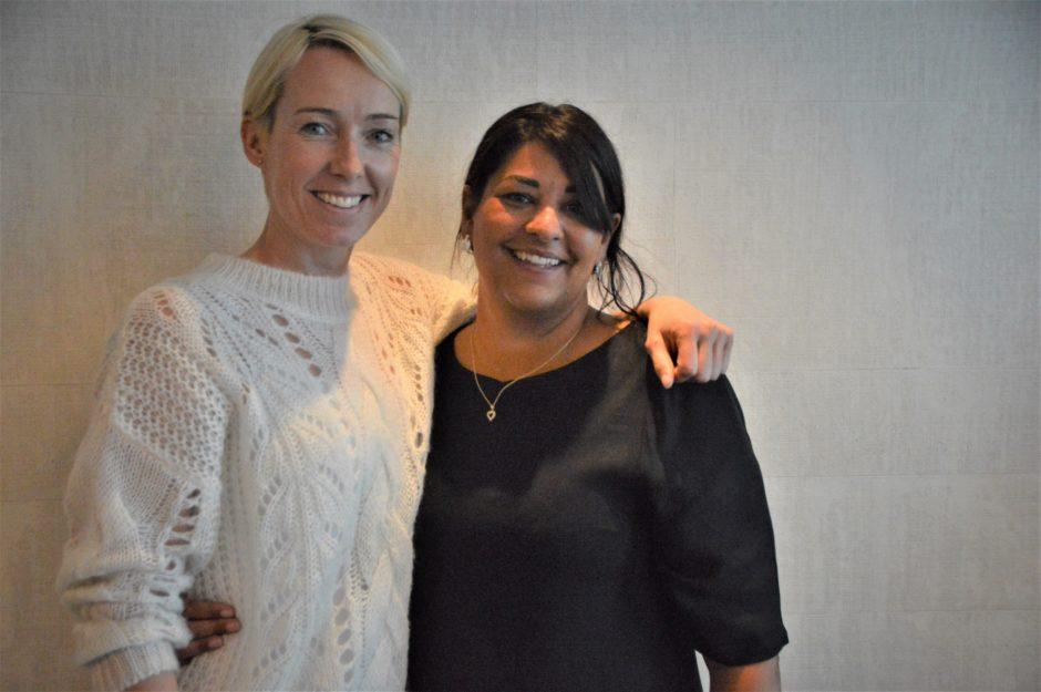 Natasha Pedersen og Katrine Lunde på årsmøte